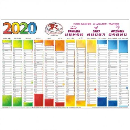 Le calendrier 2020 personnalisé pour entreprise